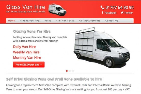 Glass Van Hire