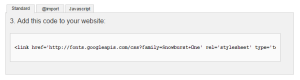 Google Font URL