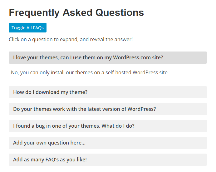 How to Add an Animated FAQ to Any WordPress Site Without a